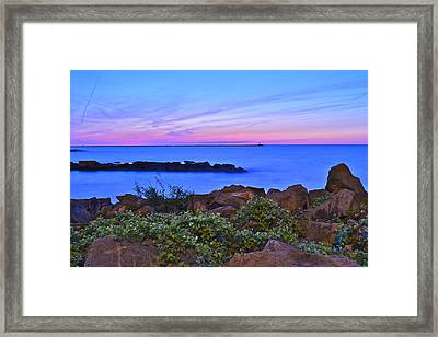 Blue Sunset Framed Print by Frozen in Time Fine Art Photography