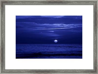 Blue Sunset Framed Print by Sandy Keeton
