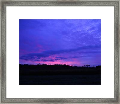 Framed Print featuring the photograph Blue Sunset by Teresa Schomig