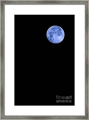 Blue Supermoon Framed Print by Trish Mistric