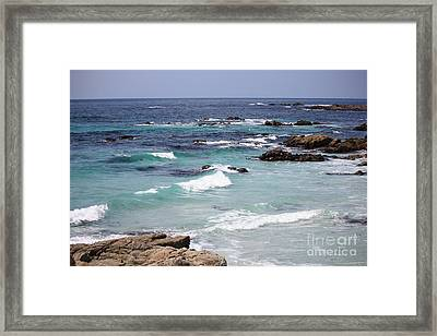 Blue Surf Framed Print