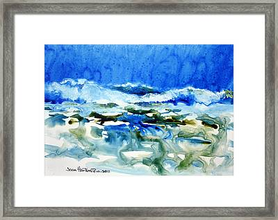 Blue Surf Framed Print
