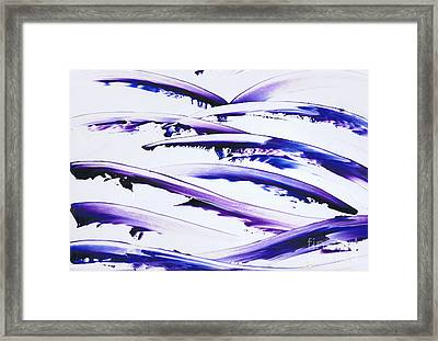 Blue Surf Framed Print by Kenneth Clarke