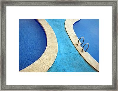 Blue Swimming Pools Framed Print
