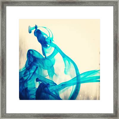 Blue Swirl Framed Print by Christy Beckwith