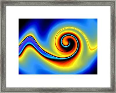 Blue Swirl Framed Print by Hakon Soreide
