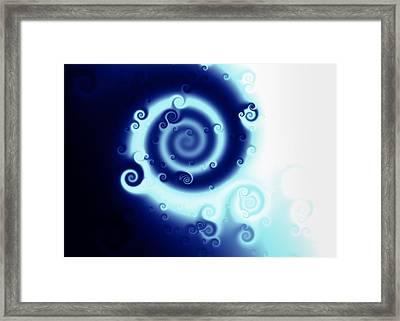 Blue Swirl Of Swirls Framed Print