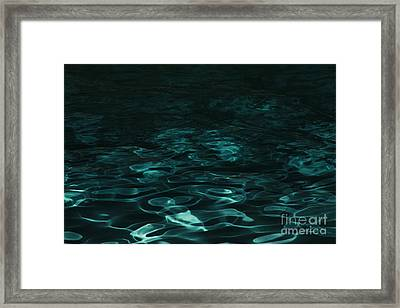 Framed Print featuring the photograph Blue Swirl One by Chris Thomas