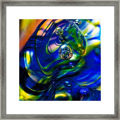 Blue Swirls Framed Print