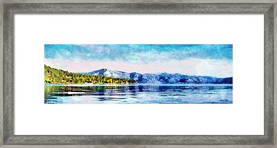 Blue Tahoe Framed Print
