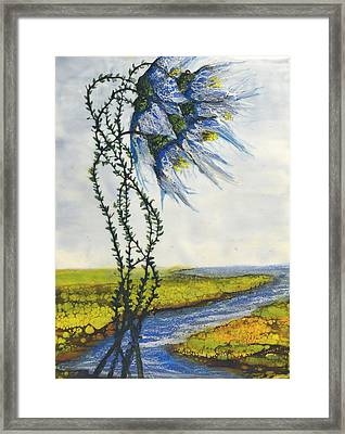 Blue Tangle Framed Print