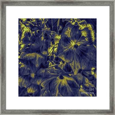 Blue Tango Floral Framed Print by Jean OKeeffe Macro Abundance Art