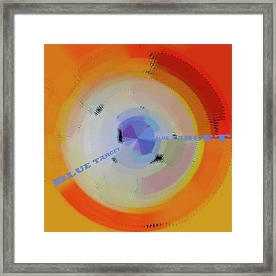 Blue Target Framed Print