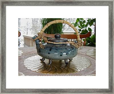 Blue Teapot Framed Print by Beth Gramith