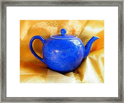 Blue Teapot Framed Print