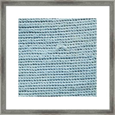 Blue Textile Framed Print by Tom Gowanlock