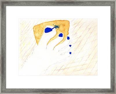 Blue The Big Toe Framed Print