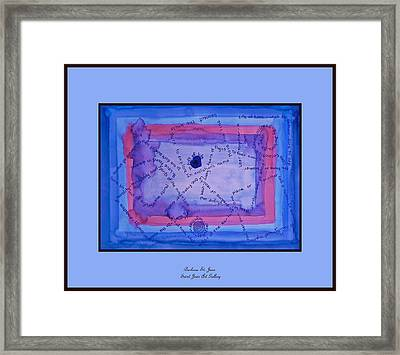 Blue Threads Framed Print by Barbara St Jean
