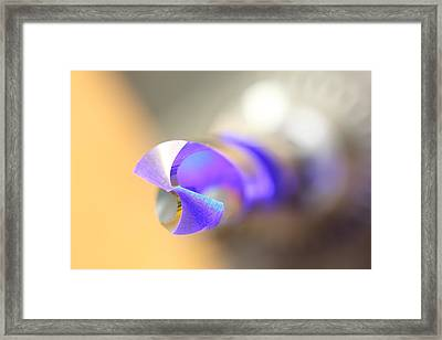 Blue Three Quarter Framed Print
