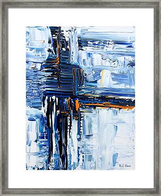 Framed Print featuring the painting Blue Thunder by Rebecca Davis