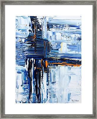 Blue Thunder Framed Print