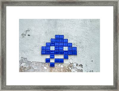 Blue Tiles Framed Print by Georgia Fowler