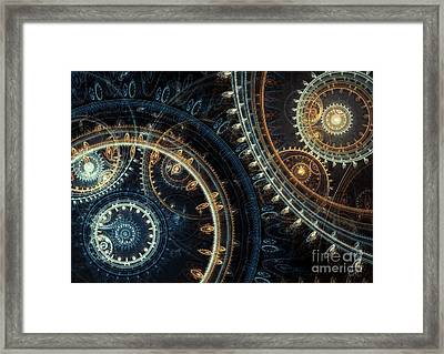 Blue Time Framed Print
