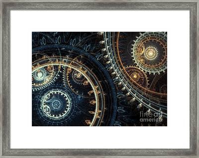 Blue Time Framed Print by Martin Capek