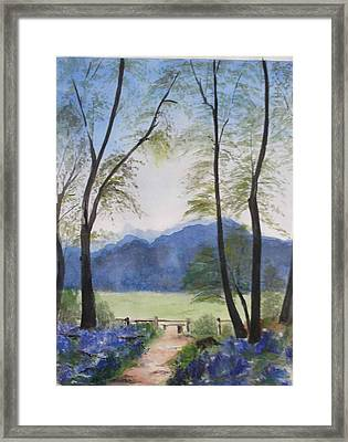 Framed Print featuring the painting Blue Time by Sibby S