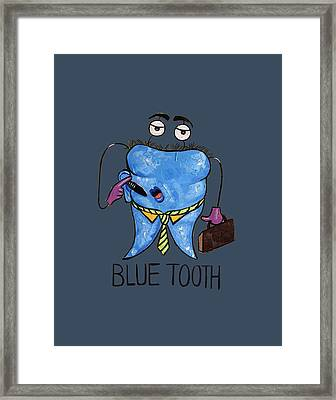Blue Tooth Dental Art By Anthony Falbo Framed Print by Anthony Falbo