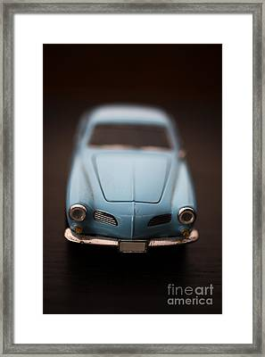 Blue Toy Car Framed Print by Edward Fielding