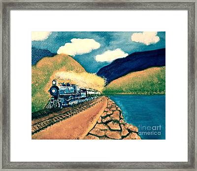 Blue Train Framed Print