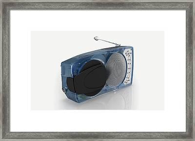 Blue Transistor Radio Framed Print by Dorling Kindersley/uig