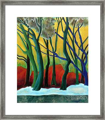 Blue Tree 1 Framed Print by Elizabeth Fontaine-Barr