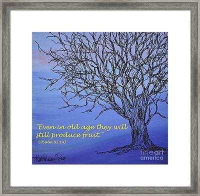 Blue Tree Framed Print by Kathleen Pio