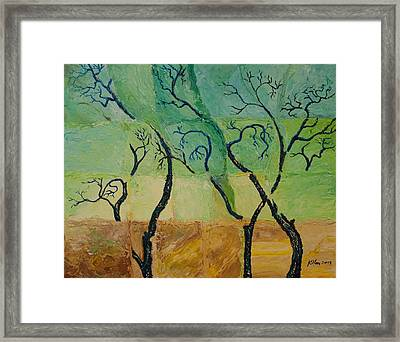 Blue Trees Framed Print by William Killen