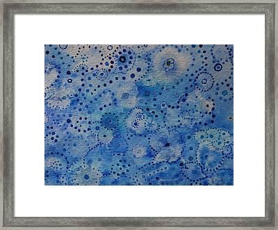 Blue Triptych I Framed Print by Catherine Arcolio