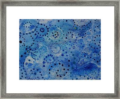 Blue Triptych II Framed Print by Catherine Arcolio
