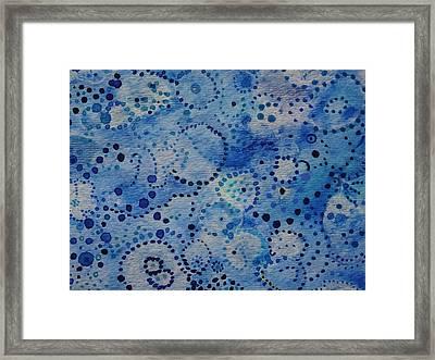 Blue Triptych IIi Framed Print by Catherine Arcolio