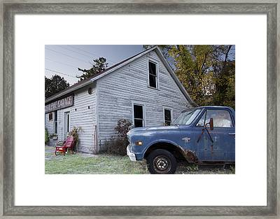 Blue Truck Framed Print by Jim Baker
