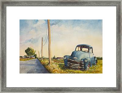 Blue Truck North Fork Framed Print