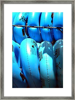 Framed Print featuring the photograph Blue Tube by Cathy Shiflett