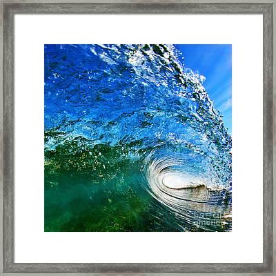Blue Tube Framed Print by Paul Topp