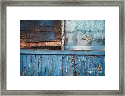 Blue Turns To Grey Framed Print by Dean Harte