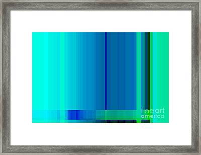 Blue Turquoise Green Lines Abstract Framed Print by Natalie Kinnear