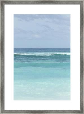 Blue Turquoise Teal Beach Gradient Photo Art Print Framed Print