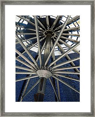 Blue Umbrella Underpinnings Framed Print