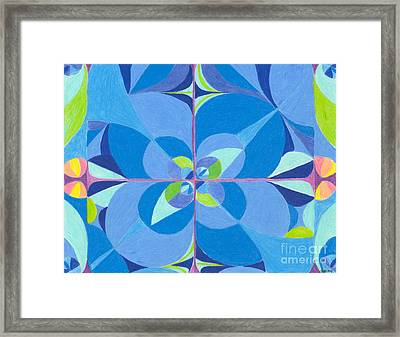 Blue Unity Framed Print by Kim Sy Ok