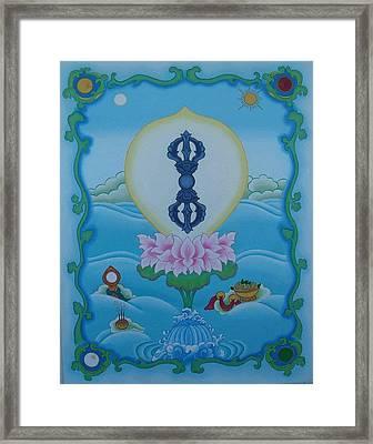 Blue Vajra Framed Print by Andrea Nerozzi