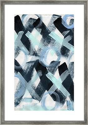 Blue Valentine- Abstract Painting Framed Print by Linda Woods